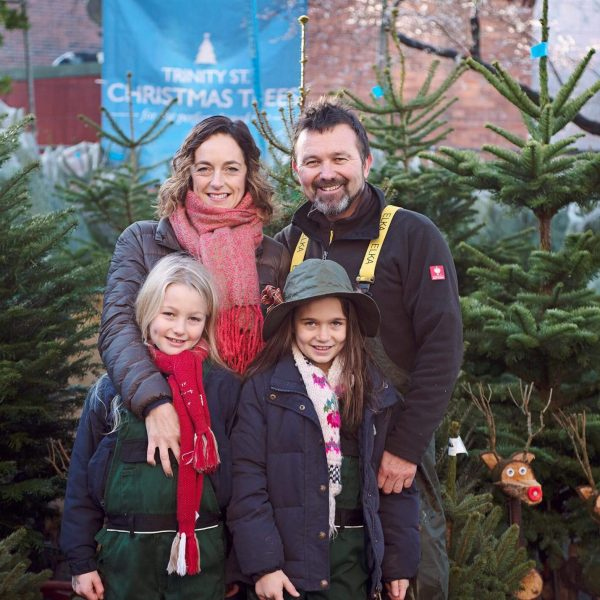 Trinity Street Christmas tree family
