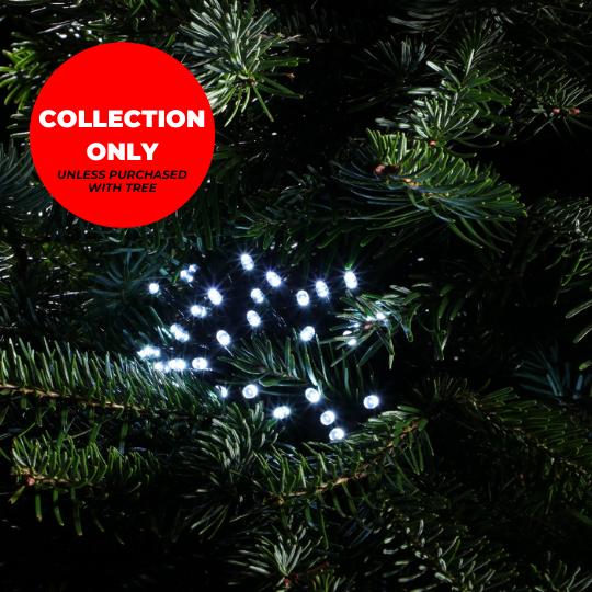Trinity Street Christmas Trees - 180 White Multifunction String Lights
